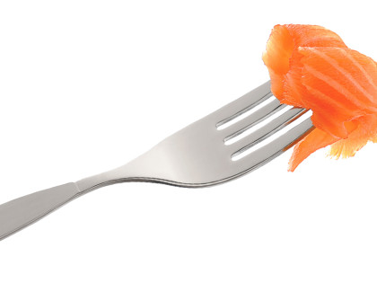 Fork with Salmon