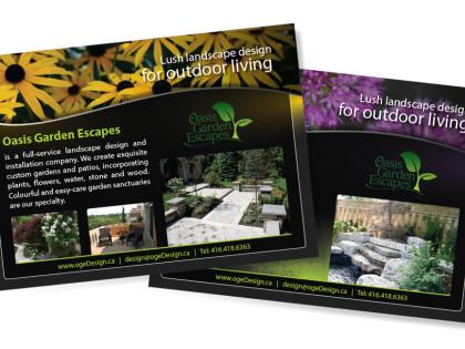 Oasis Gardening Postcard Design