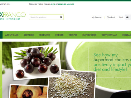 Nutritionist Website Design