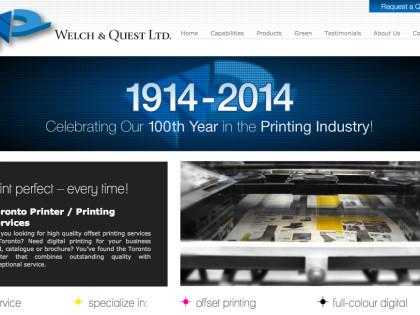 Printer Website Design