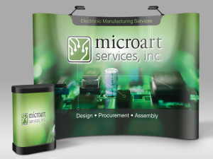 Trade Show Backdrop & Podium