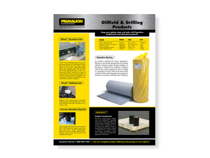 Industrial Sales Sheet Design