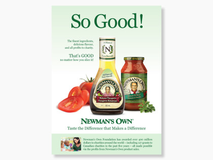 Newman's Own Wallmart Magazine Ad