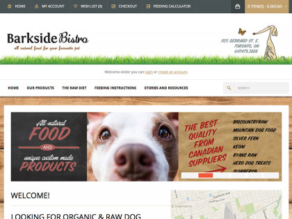 Pet Food Ecommerce Website Design