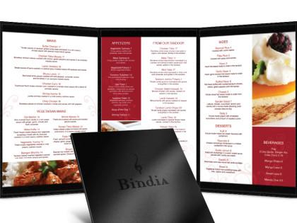 Bindia Restaurant Menu Design