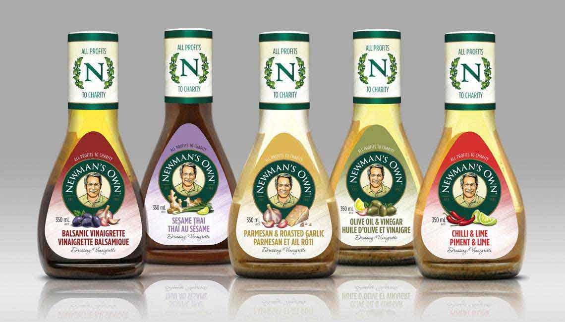 Food packaging design for Newman's Own