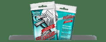 Packaging design for razor blades
