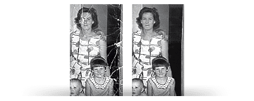 Photo restoration of a family photograph